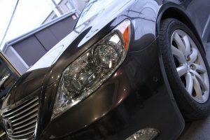 ドリームコート 認定技術研修 レクサス LS クラック修理 ヘッドライト黄ばみ 施工完了