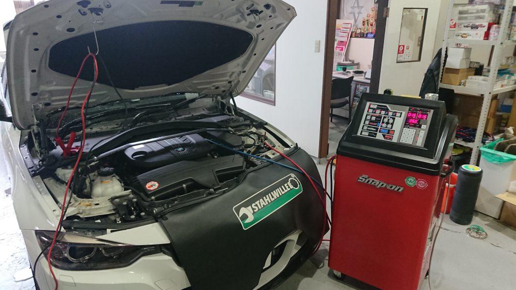 BMW F30 3シリーズ エアコンクリーニング PS134 スナップオン PS1234 岐阜県 岐阜市 岐南町 各務原市