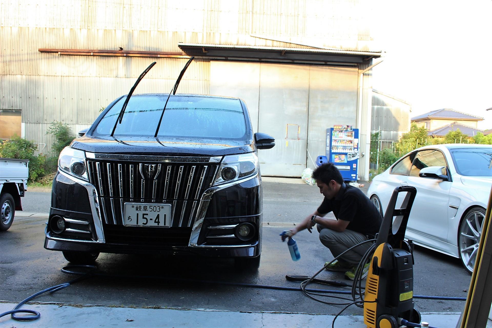 エスクワイア 洗車