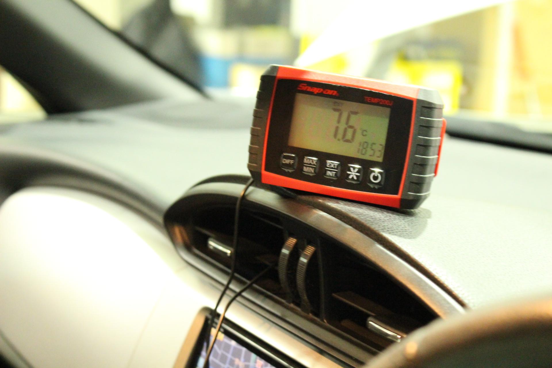 エアコンクリーニング後 車内温度
