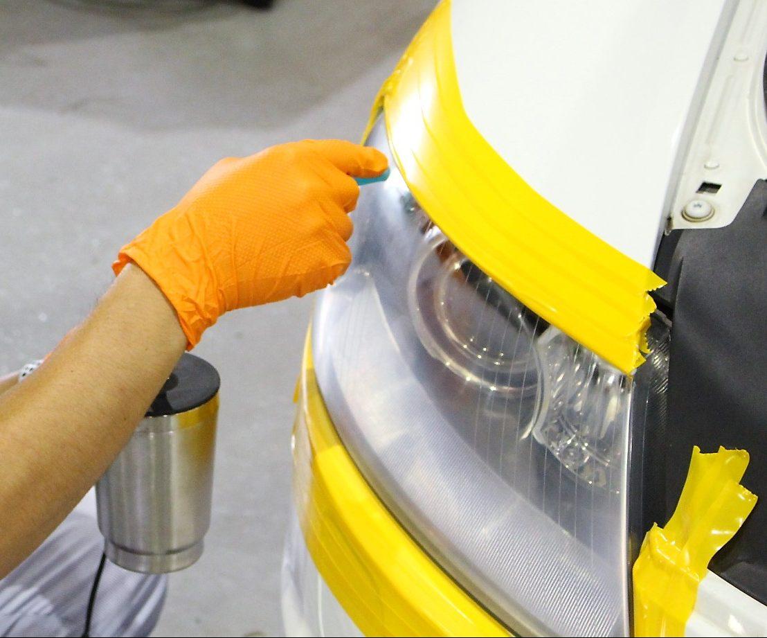 アウディ A6 ドリームコート施工 ヘッドライトコーティング 黄ばみ除去