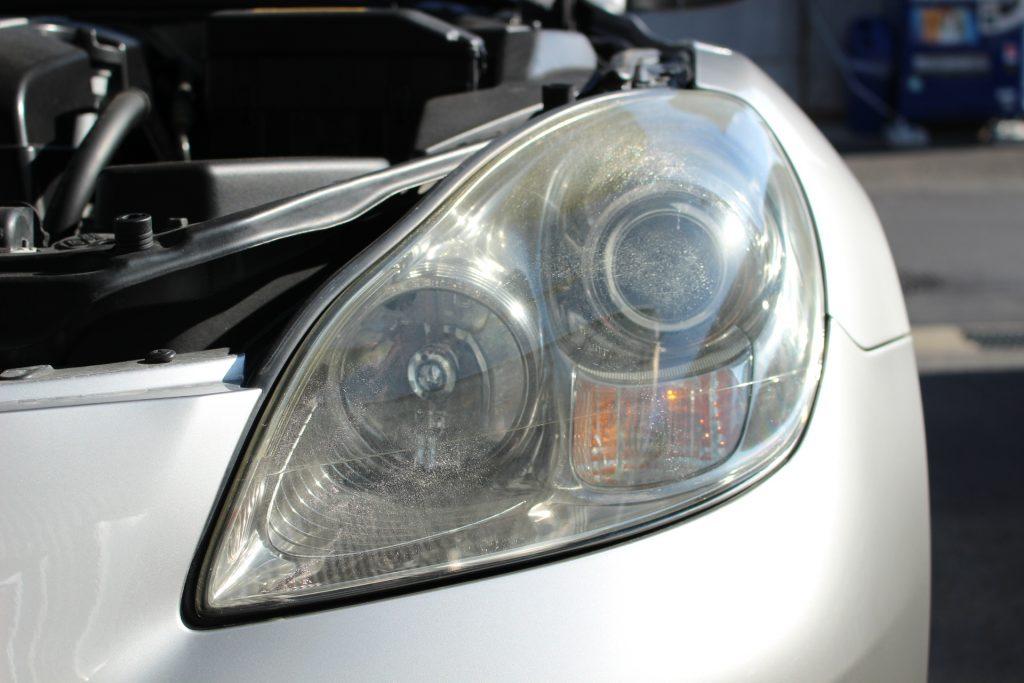 レクサス SC430  ソアラ ヘッドライト黄ばみ クラック ドリームコート AVARTH 岐阜 認定プロショップ 施工前