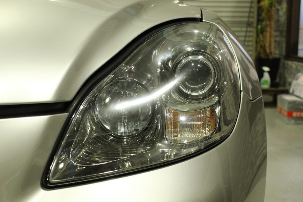 レクサス SC430  ソアラ ヘッドライト黄ばみ クラック ドリームコート AVARTH 岐阜 認定プロショップ ドリームコート施工後