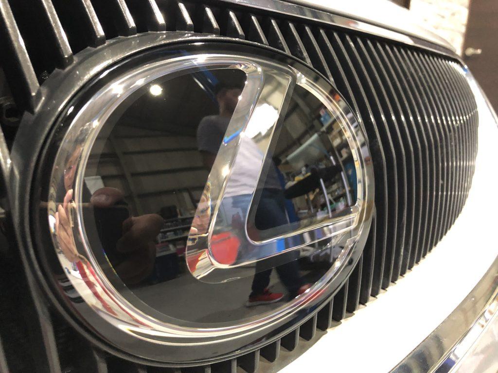 レクサス トヨタ GS ハイブリッド レーダー ミリ波 清掃必要 感度低下 エイミング プリクラッシュ セーフティセンス 岐阜 自動ブレーキ ドリームコート 施工後 AVARTH